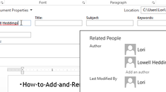 How to Add and Remove Authors in an Office Document
