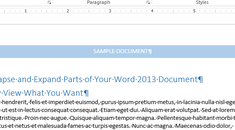 How to Collapse and Expand Parts of Your Document in Word