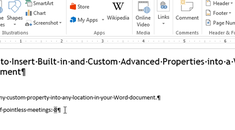 How to Insert Built-in and Custom Advanced Properties into a Word Document