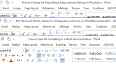 How to Open Multiple Word Documents at Once