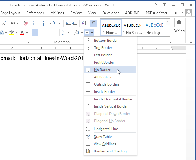 Świeże How to Remove Automatic Horizontal Lines in Word HI94