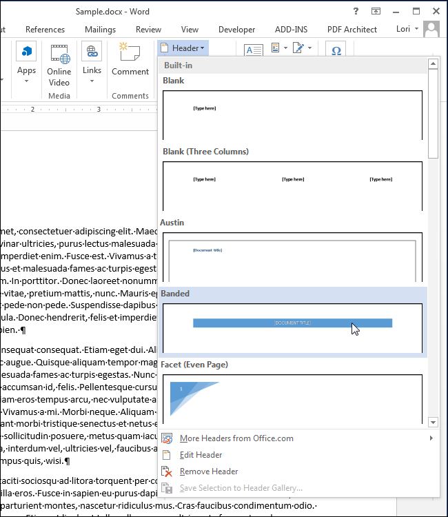 How To Add A Header Or Footer To A Word Document