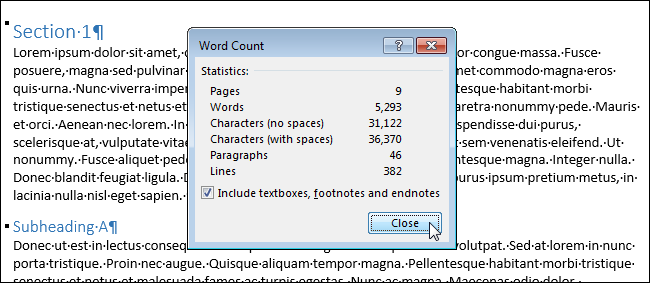 5 page essay word count