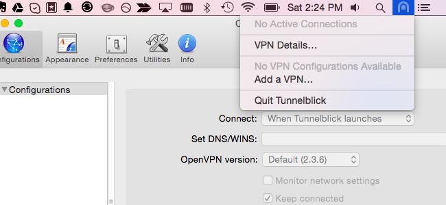 VPN em execução em segundo plano automaticamente no Mac