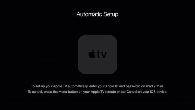 Set Up Your Apple TV With An IPod Or IPhone