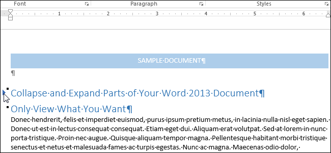 How to collapse and expand parts of your document in word publicscrutiny Image collections