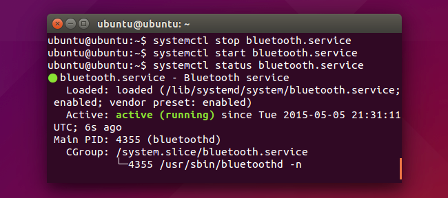 enable bluetooth linux command