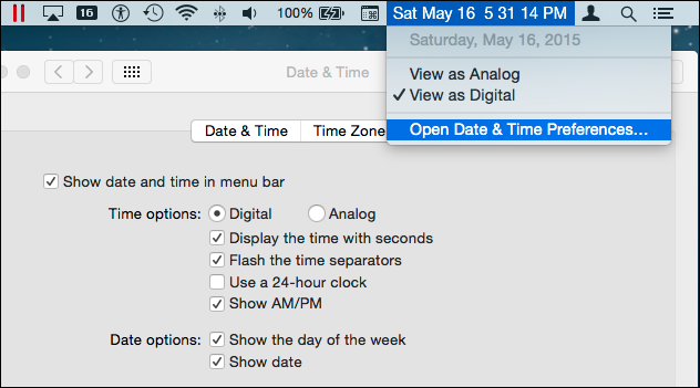 how to show bar on mac