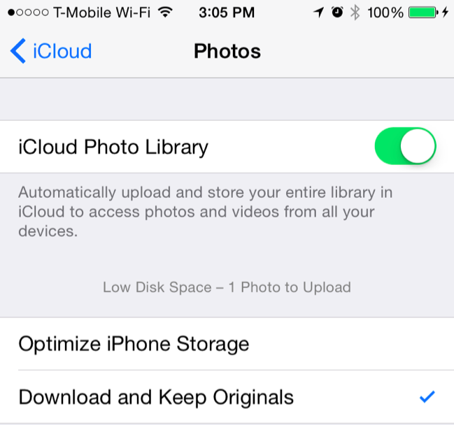 how to clear up icloud storage