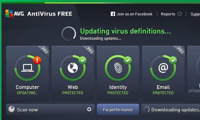 avg free  2015 windows 10