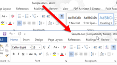 How to Convert a Word 2013 Document to an Older Version of Word