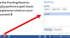How to Use the Proofing Panel in Word