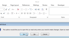 How to Force Word to Prompt Users to Open a Document as Read Only