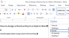 How to Assign a Shortcut Key to a Style in Word