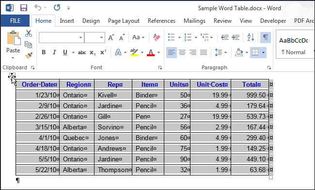 How to delete a table in word for T table for 99