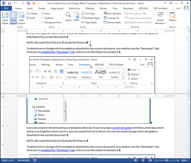how to put multiple photos on a word document