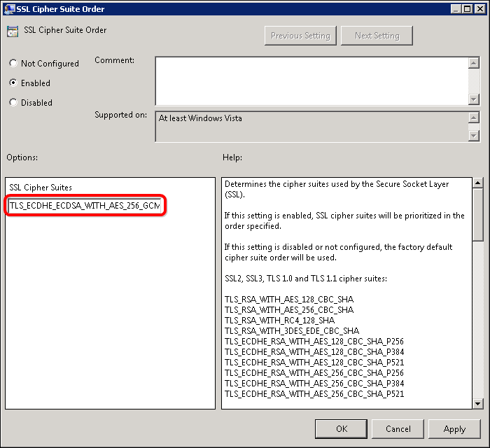 How to Update Your Windows Server Cipher Suite for Better