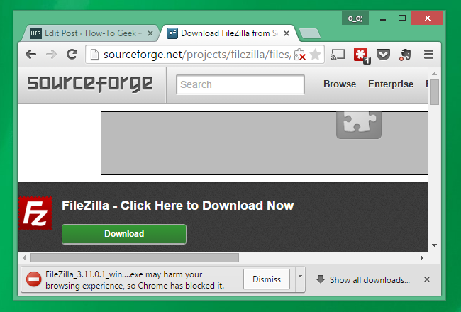 Warning: Don't Download Software From SourceForge If You Can