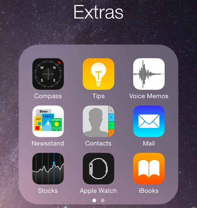 iphone app folder how to hide ios built in apps in ios 9 and earlier 4603