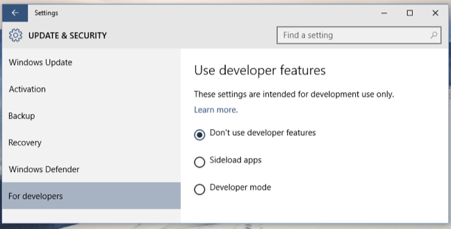 Windows 10 Allows You To Sideload Universal Apps, Just Like Android Does