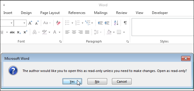 how to make excel read only 2010