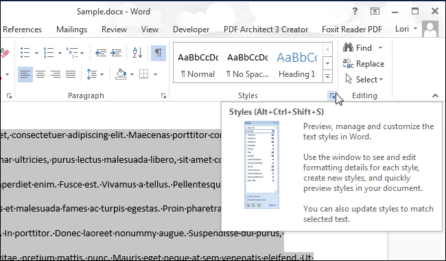 how to include subheadings in word