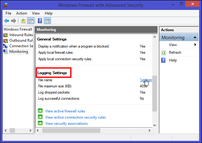 How to Track Firewall Activity with the Windows Firewall Log