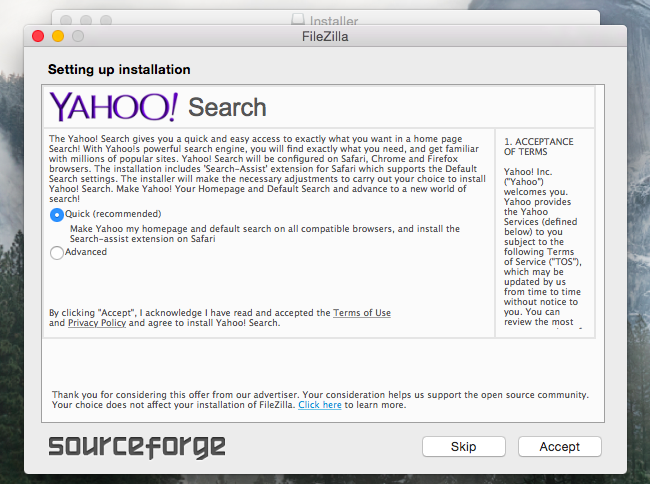 is it safe to download from sourceforge
