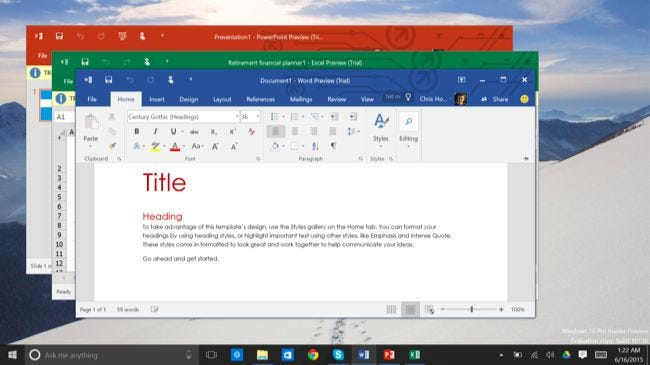 why windows 10 offers two different versions of