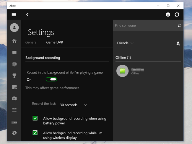 How to record pc gameplay with windows 10 s game dvr and for Window recorder