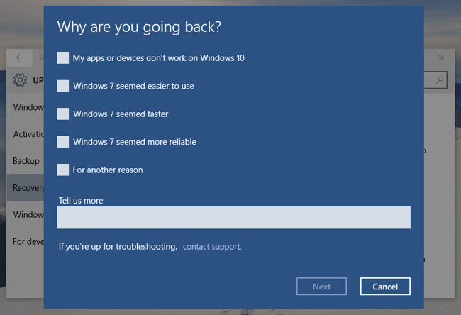How to Uninstall Windows 10 and Downgrade to Windows 7 or 8.1