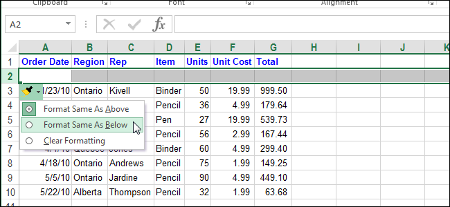 How to Turn Off the Insert Options Floating Button in Excel