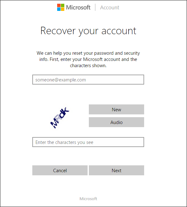 Resetting windows account password