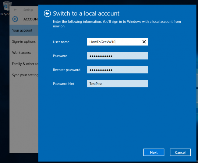 recover lost admin password windows 10