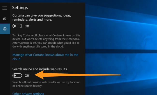 cortana how to disable