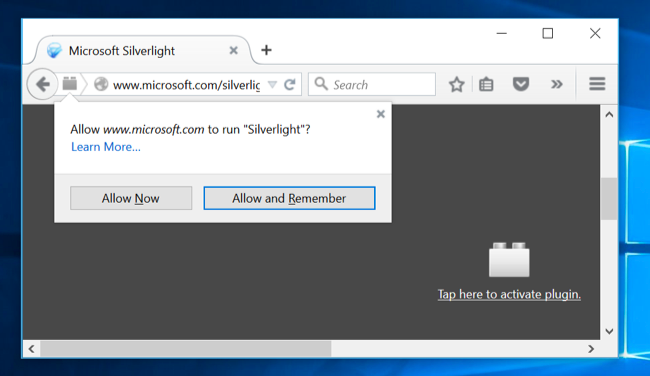 How to Use Java, Silverlight, and Other Browser Plug-ins on Windows
