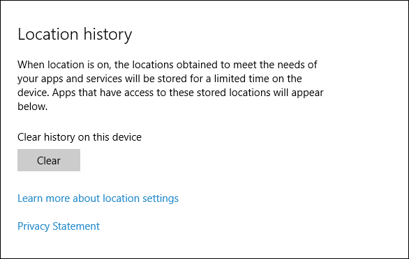 how to clear location history in outlook