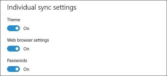 إعدادات المزامنة الجديدة في Windows 10