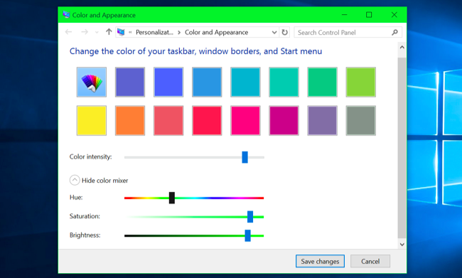 How to get colored window title bars on windows 10 instead of white pick a custom color ccuart Gallery