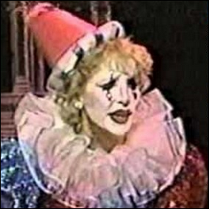 Arleen Sorkin dressed up as a clown on Days of Our Lives.