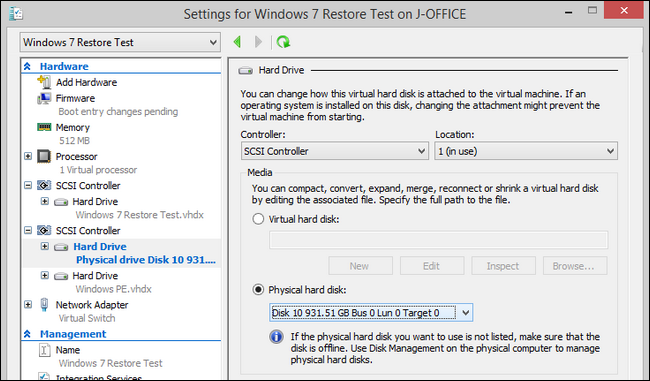 How to Access Local and USB Hard Drives In Your Hyper-V