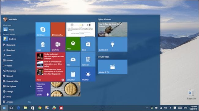 Getting To Know The New Start Menu In Windows 10