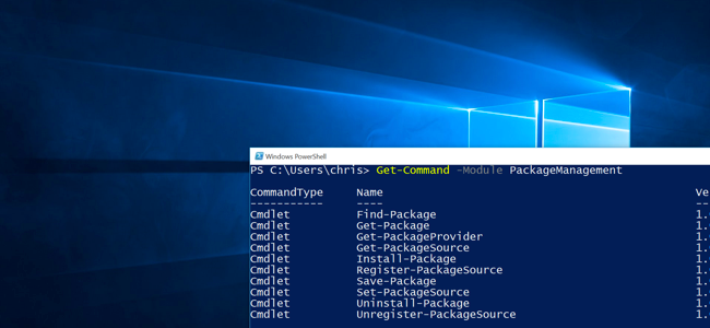 How to Use PackageManagement (aka OneGet) on Windows 10