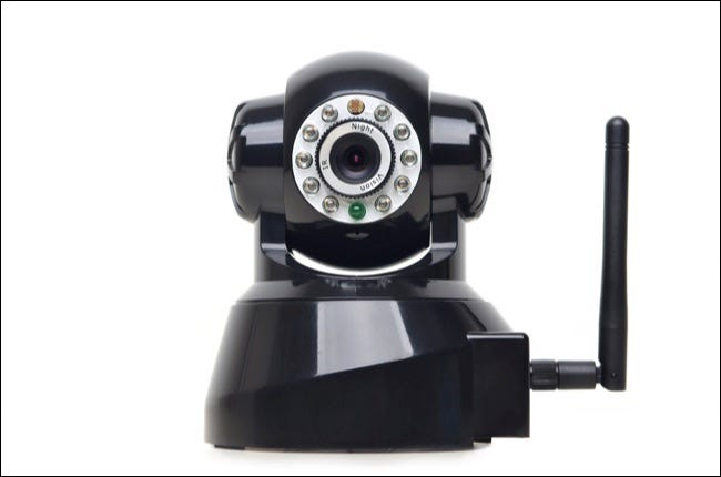 Picture of Wireless IP camera on white camera