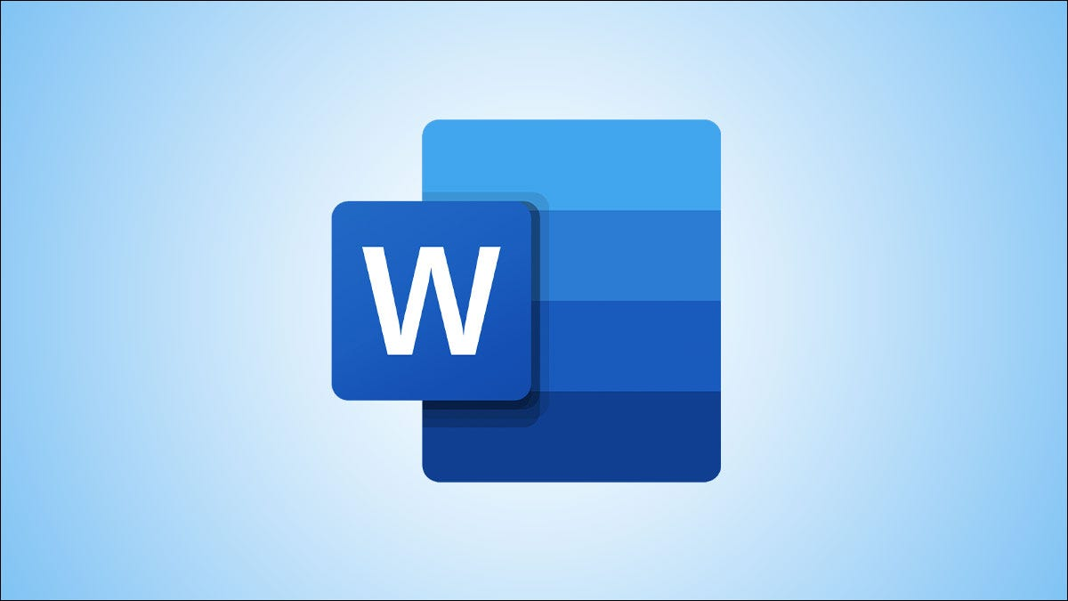 Microsoft Word logo on a blue background