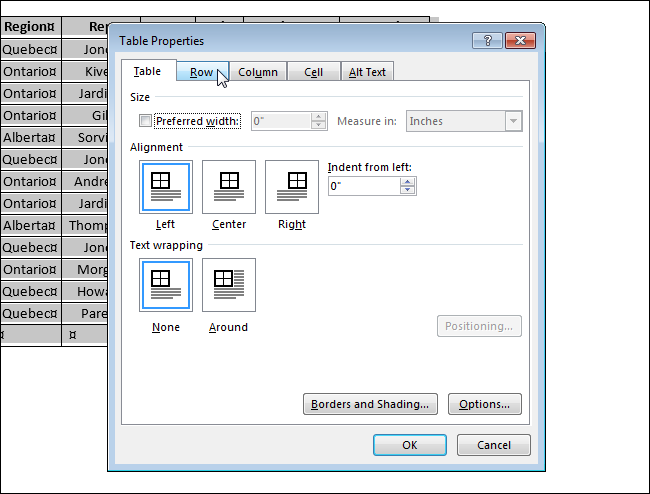 how to lock a table in word document
