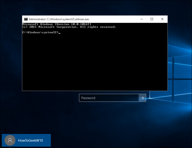 windows 10 password recovery usb boot