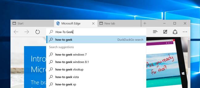 how to change your search engine on microsoft edge