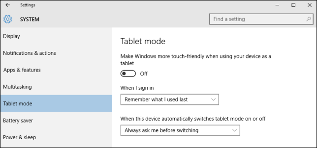 What is Tablet Mode in Windows 10 and How to Turn it On and Off