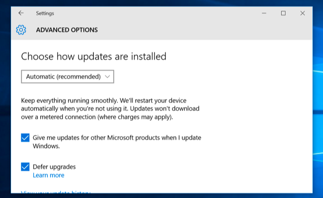 windows 10 upgrade for business users